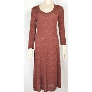 Cut Loose dress SZ XS brown  3/4 sleeve mesh semi